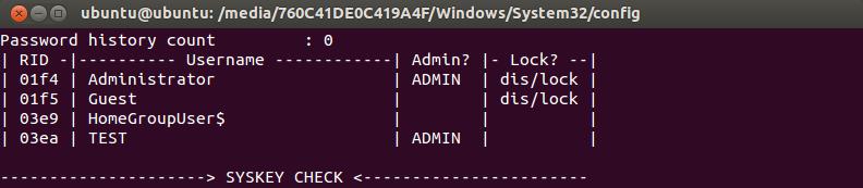 crack windows 7 password using ubuntu